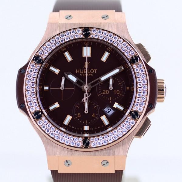 Big Bang Chronograph 44mm 18K Roségold Cappuchino Chocolate Diamond B+P