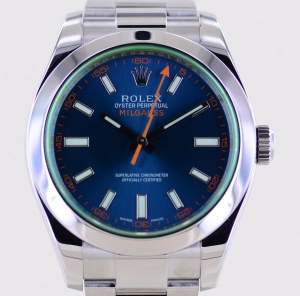 Milgauss GV Z-blue orange dial Automatic 40mm Klassiker B+P