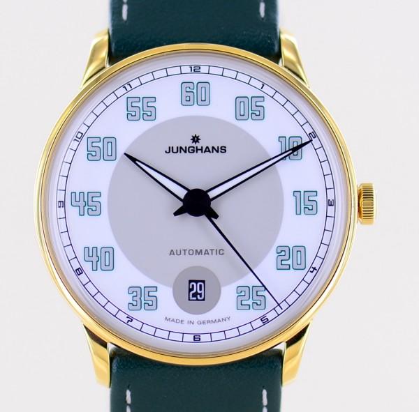 Meister Driver Automatic Dresswatch grey white PVD Gold arabic Dial ungetragen
