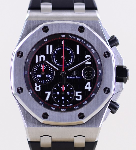 Royal Oak Offshore Chronograph Vampire black red Automatic Glasboden