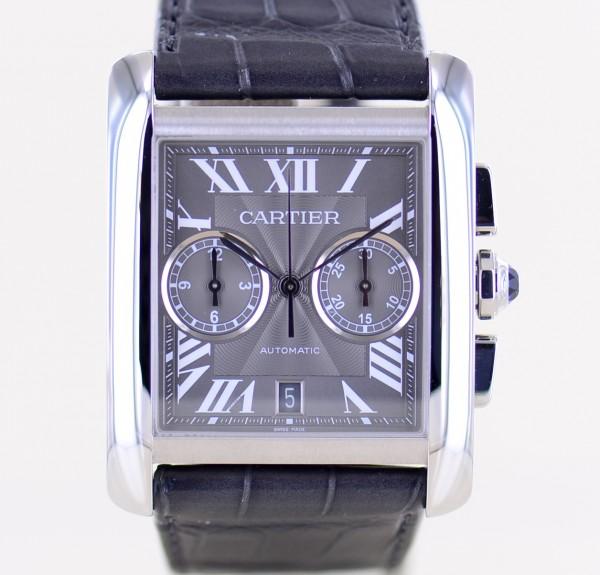 Tank MC Chronograph XL Automatic Steel Dresswatch rar roman Dial Lederband 3666