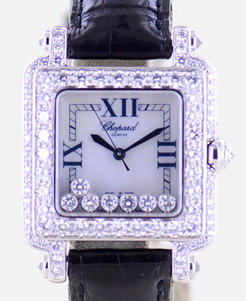 Chopard Happy Diamond Luxus White Gold Lady Brillant 4.52 CT B+P