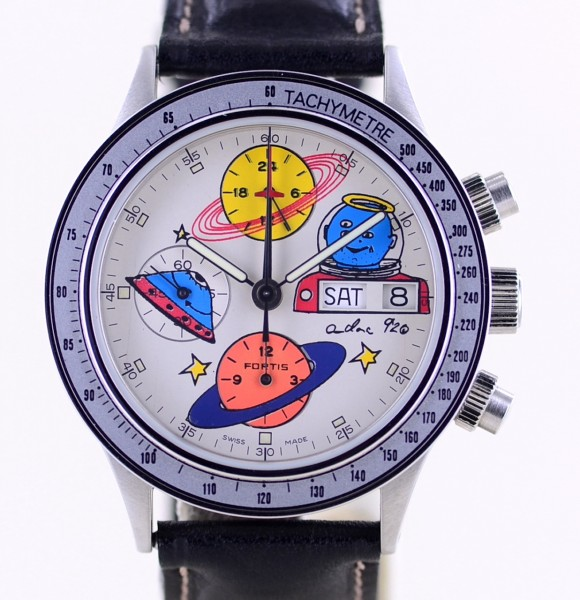 Andora in Space Limited Day Date Chronograph Stratoliner 5100 Sondermodell B+P rar