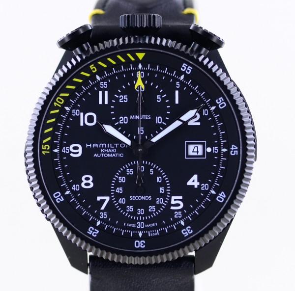 Khaki Aviation Takeoff Chronograph Limited Black Yellow Collector Top B+P