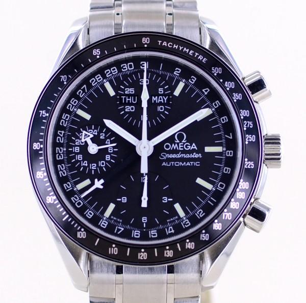 Speedmaster Automatic Chronograph Triple Date black dial Klassiker 39mm Stahlband