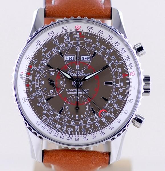 Navitimer Montbrillant Datora 43mm Chronograph Top brown Calendar Lederband
