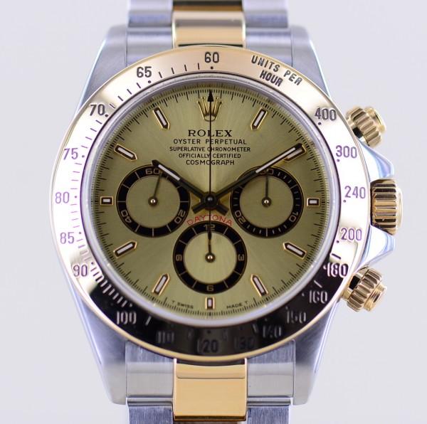 Daytona Stahl Gold Tritium Dial Zenith Cosmograph Klassiker Chronograph A-Serie