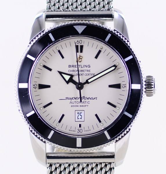 Superocean Heritage 46mm Automatic Silver Stahl Milanaise Band Diver B+P