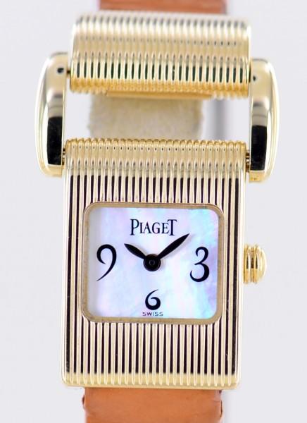 Miss Protocole 18K Gold Perlmutt MOP white dial Luxusuhr + 2 Bänder