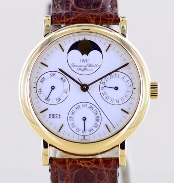 Portofino 18K Gold white Dial 35 mm Ewiger Calendar Perpetual B+P rar