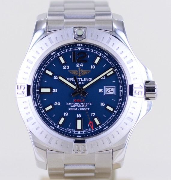 Colt 44 Automatic Stahl blue Diver 44mm Full-Set Topzustand 2016