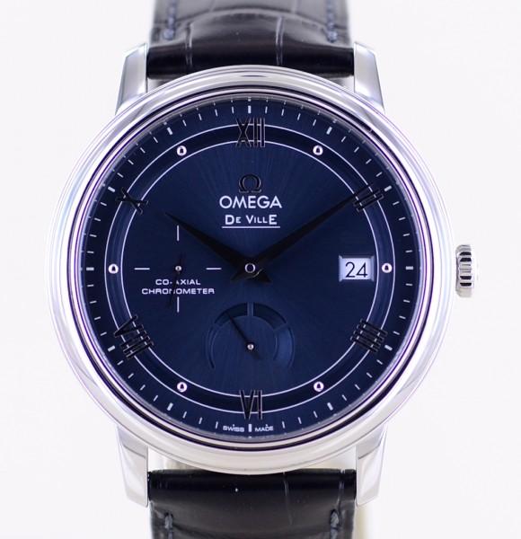 DeVille Prestige Co-Axial Power Reserve Date Chronometer blue 39,5 B+P