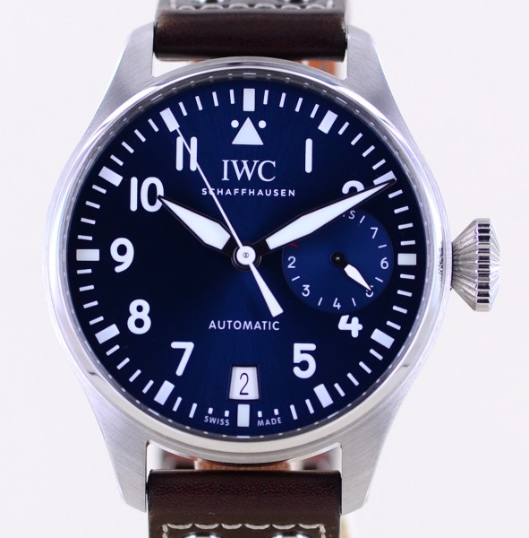 Big Pilot's Petit Prince Stahl Blue Dial 46mm 8-Tage Werk Topzustand B+P