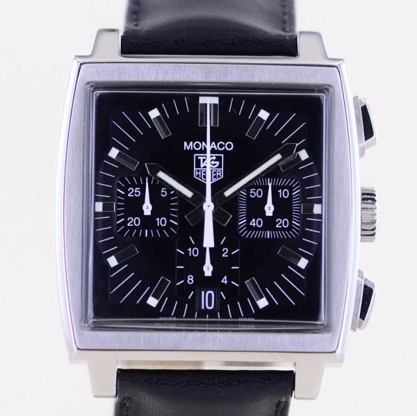 Monaco Steve McQueen schwarz Klassiker black Racing Chronograph Automatic