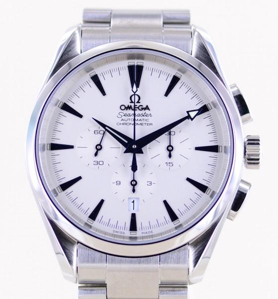Seamaster Aqua Terra Chronograph 42,2mm white blue Dial Automatic Stahlband