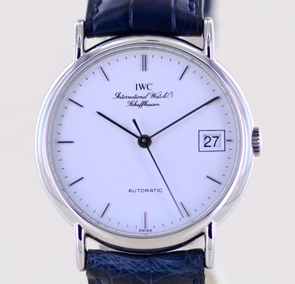 Portofino Date Automatic Stahl white Dial Klassiker 34mm Unisex Dresswatch