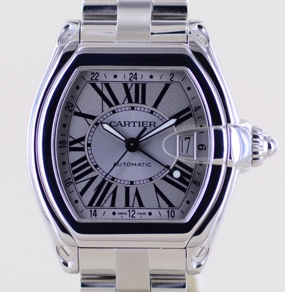 Roadster GMT XL Stahl silver dial Automatik Sportlich Top Stahlband