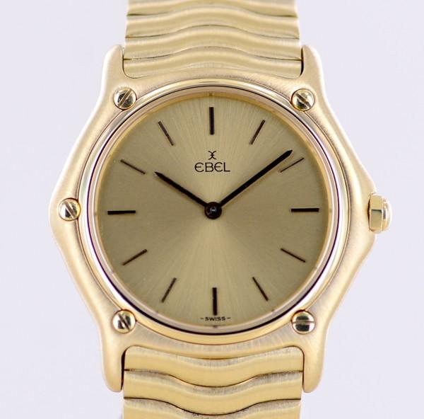 Ebel 18K Gold Classic Sport Wave Luxus Lady medium golden Dial