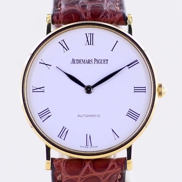 Ultra thin Cal 2120 Automatic white Roman Dial 18K Gold Dresswatch Klassiker Top