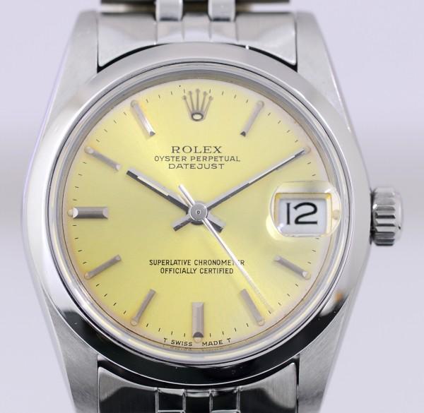 Rolex Medium Datejust Silver dial Patina Jubiléband 31mm Lady