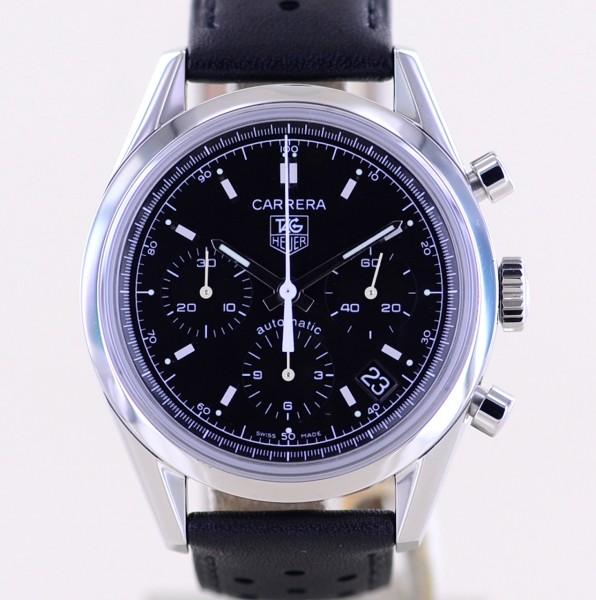 Carrera Date Chronograph Automatic Black Dial Klassiker 39mm Cal 17 B+P