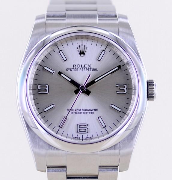Oyster Perpetual silver Dial Rehaut Klassiker 36mm 116000 silber