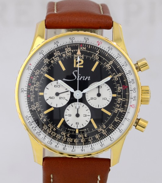 Navigationsuhr 903 PL Chronograph 41,5 mm Lemania 1873 vergoldet extrem rar