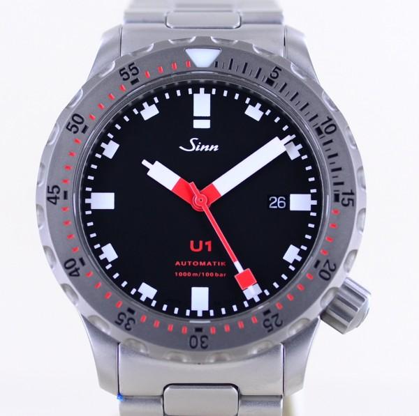 U1 Stahl Automatik Date black Diver Klassiker B+P U-Boot Top B+P