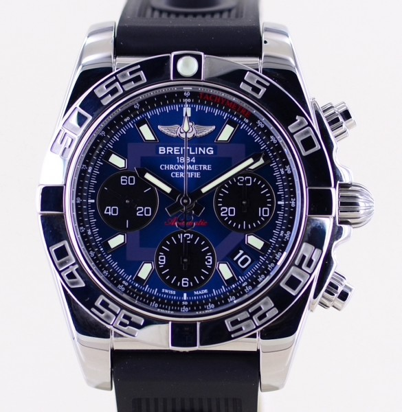 Chronomat 41 Manufaktur B01 Kautschukband Blue Dial Automatic Rubber Racing