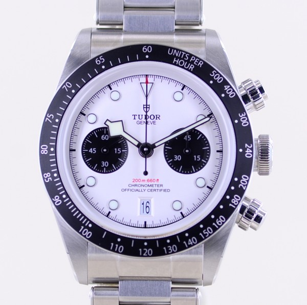Black Bay Chrono white MT5813 41mm 2021 B+P Diver Stahlband ungetragen
