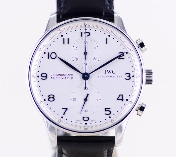 Portugieser Chronograph Automatik 41mm silver Dial Faltschließe Dresswatch B+P