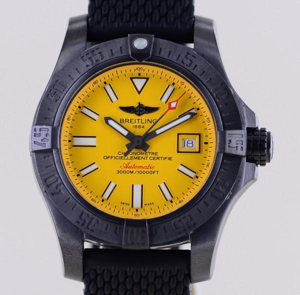 Avenger II Seawolf Stahl Yellow Dial Kautschukband Automatic Limited B+P 45.5mm