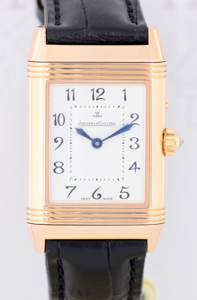 Reverso Duetto Lady Diamonds medium rosé 18K gold black white B+P