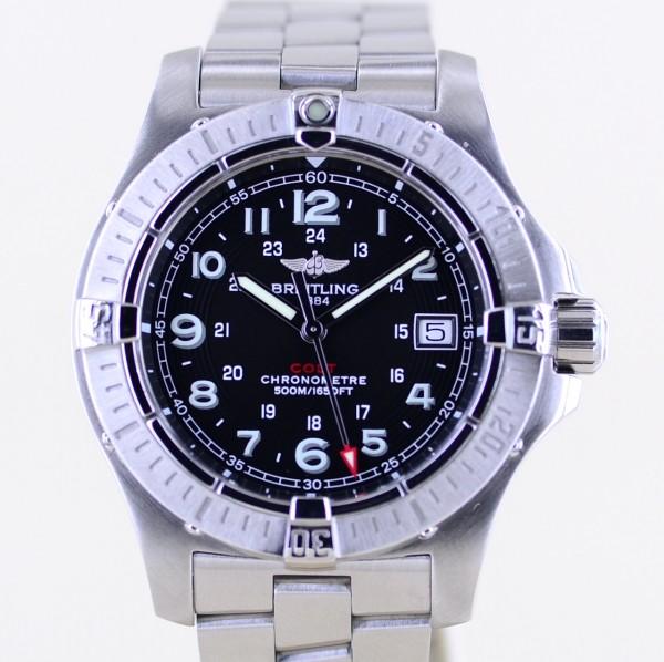 Colt 41 Quarz Stahlband black dial Date Cal74 Professional Diver