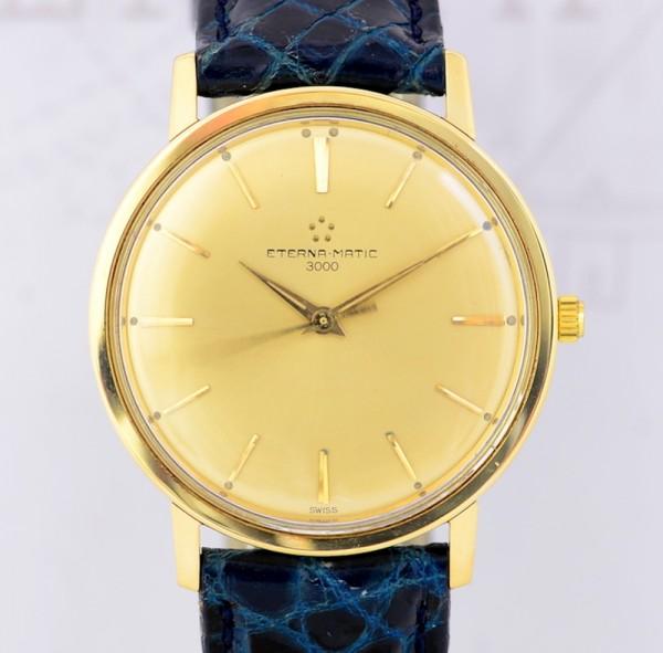 Eterna Eterna-Matic 3000 18K Vintage Dresswatch no-Date Klassiker