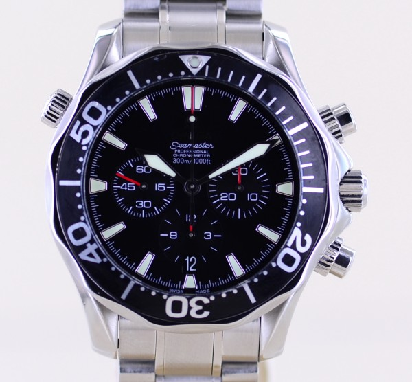 Seamaster 300m Chronograph black Dial Schwertzeiger Automatic 41.5 mm Top
