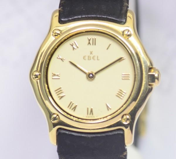 Ebel 1911 Lady Luxusuhr Lederband Sportlich 18K Gold