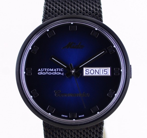 Mido Commander datoday Shade Special Edition blue Dial Automatik Milanaise