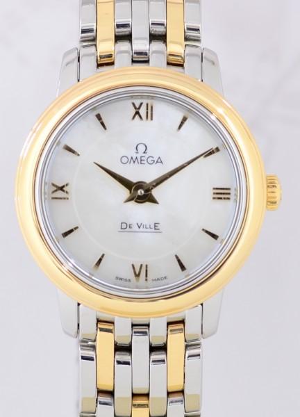 Omega De Ville Prestige Stahl Gold MOP-Dial Dresswatch Lady's