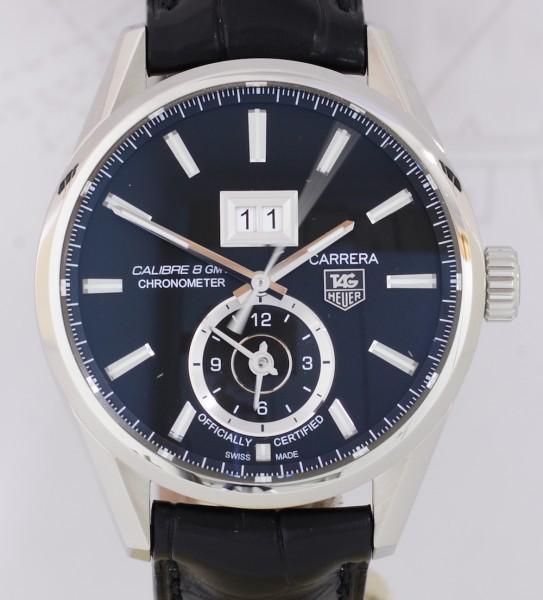 TAG Heuer Carrera GMT Calibre 8 Edelstahl 41mm Big Date Black dial