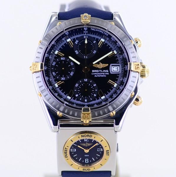 Chronomat UTC Stahl Gold black gold Dial Automatic 39mm Steel Chronograph B+P