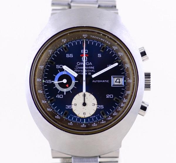 Speedmaster Prof Mark III Chronograph Vintage Automatic blue dial rar