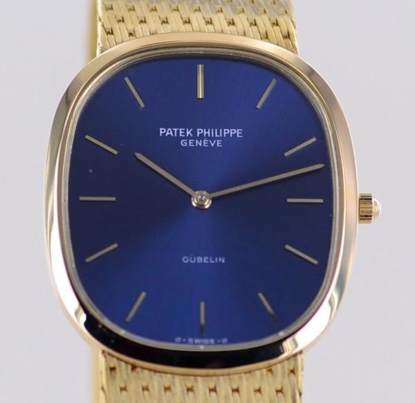Ellipse 18K gold Automatic blue Dial Full-Set 1982 Milanaise very rar 3838