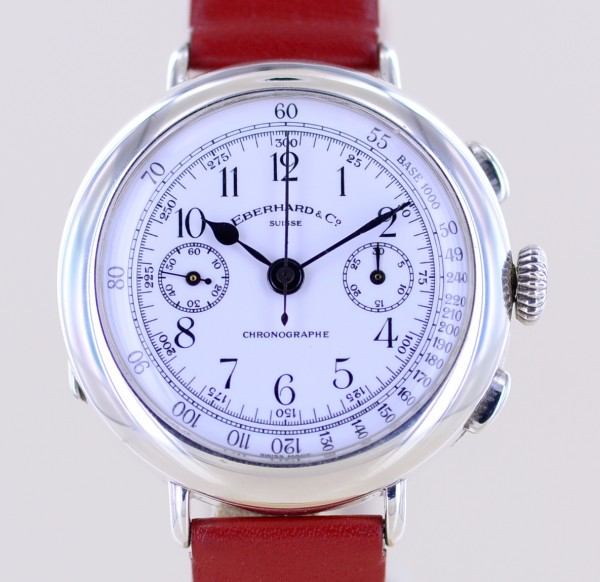 Vintage Chronograph 925 Sterling Silber Dresswatch Replica Edition rar
