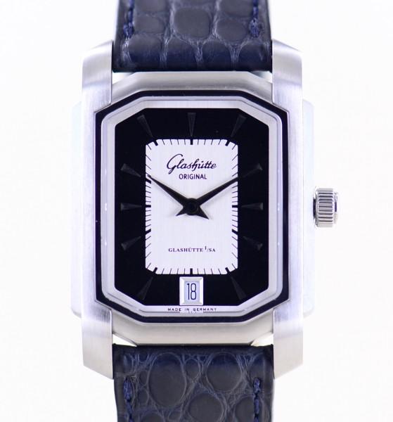 Senator Karree Date Silver Black 30 x 42 mm Klassiker B+P Cal 39 Automatik Unisex