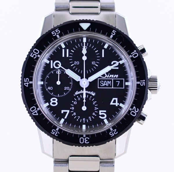 103.031 ST Day-Date Chronograph Black Dial Steel Automatik 7750 B+P 2020