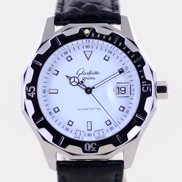 Sport Evolution Automatic 41mm Date white Dial Stahl Diver Cal 39 selten