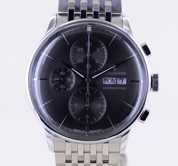 Meister Chronoscope DayDate Chronograph Automatic Stahlband grey Dial