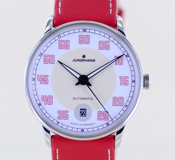 Meister Driver Automatic Dresswatch Creame white rosé Dial ungetragen