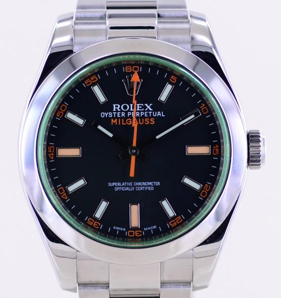 Milgauss GV black orange dial Rehaut Automatic 40mm Klassiker Green